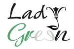 Lady Green Flowers Logo