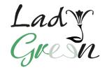 Lady Green Flowers Logo